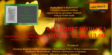 Sendung Gadu Gadu in Radio Flora im November in Hannover