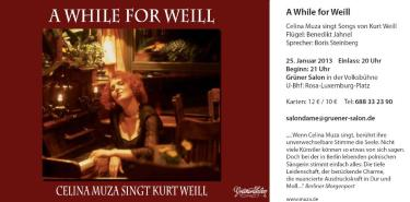 A While for Weill - Celina Muza am 25.Januar 2013